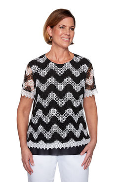 Image: Plus Chevron Lace Top