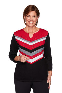 Image: Plus Chevron Sweater