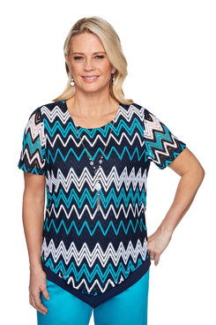 Image: Plus Chevron Top with Necklace