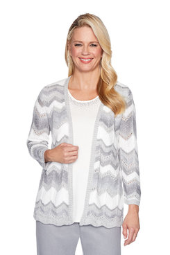 Image: Plus Chevron Two for One Sweater