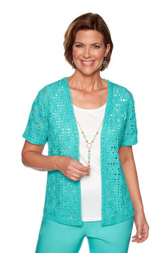 Image: Plus Crochet Lace Two for One Top