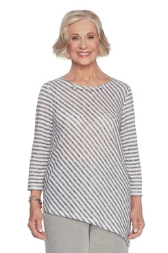 Image: Plus Diagonal Stripe Top