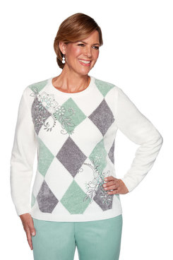 Image: Plus Diamond Chenille Sweater