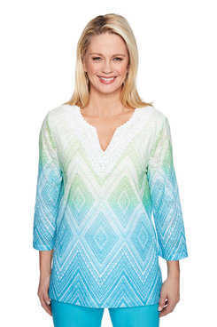 Image: Plus Diamond Ombre Top