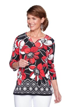 Image: Plus Dramatic Floral Border Top