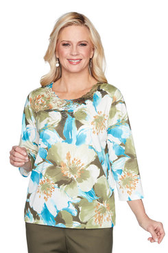 Image: Plus Embellished Floral Top