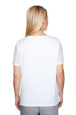 Image: Plus Embroidered Butterfly Top