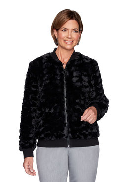 Image: Plus Faux Fur Bomber Jacket