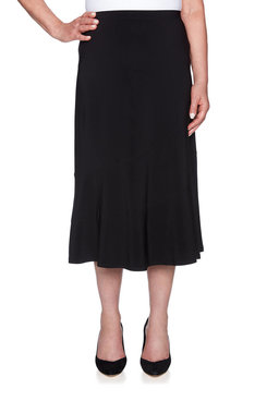 Image: Plus Flared Pull-on Skirt
