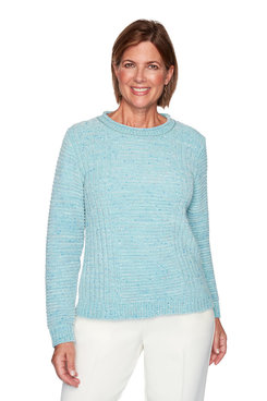 Image: Plus Fleck Chenille Solid Sweater