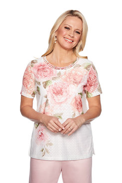 Image: Plus Floral Asymmetric Top