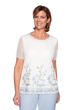 Image: Plus Floral Border Overlay Top