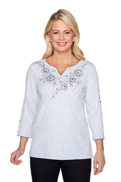 Image: Plus Floral Open Sleeve Top