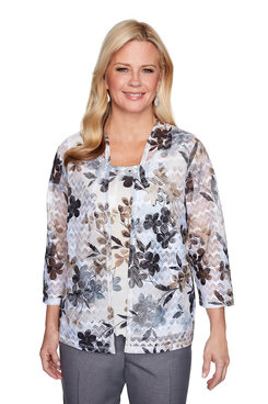 Image: Plus Floral Patch Two-for-One Top