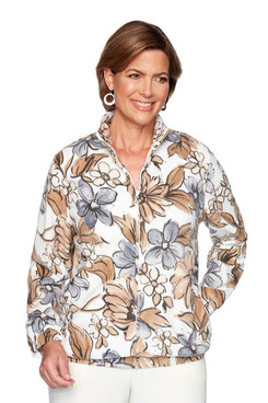 Image: Plus Floral Polar Fleece Jacket