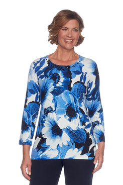 Image: Plus Floral Print Sweater