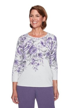 Image: Plus Floral Shimmer Sweater