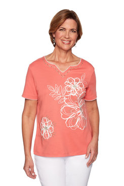 Image: Plus Floral Soutache Top