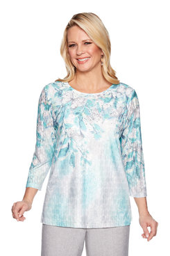 Image: Plus Floral Trellis Top