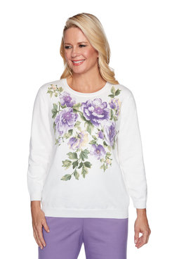 Image: Plus Floral Yoke Sweater