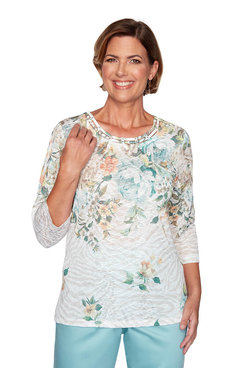 Image: Plus Floral Yoke Top