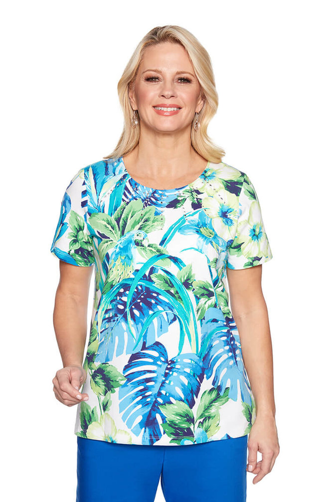 8a260851a4 Plus Island Vibes Knit Top - Alfred Dunner