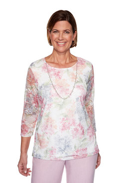 Image: Plus Lace Biadere Top