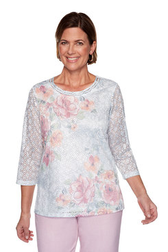 Image: Plus Lace Floral Top