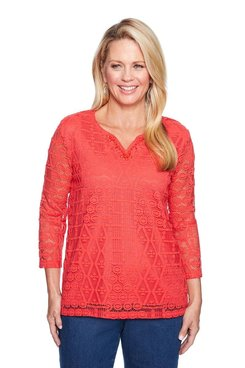 Image: Plus Lace Knit Top