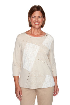 Image: Plus Lace Patchwork Top