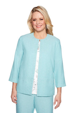 Image: Plus Lace Trim Jacket