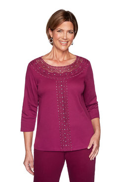 Image: Plus Lace Yoke Top