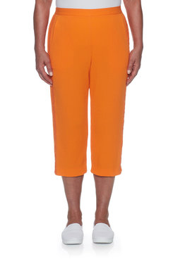 Image: Plus Lightweight Flatfront Capri With Side Detail