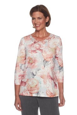 Plus Lightweight Floral Top