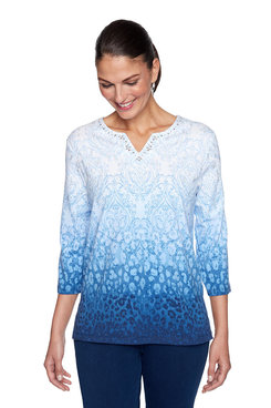 Image: Plus Medallion Ombre Top