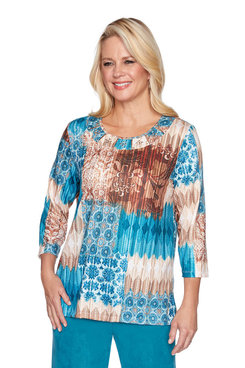 Image: Plus Medallion Patchwork Top