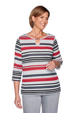 Image: Plus Melange Stripe Top