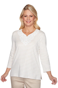 Image: Plus Monotone Stripe Top