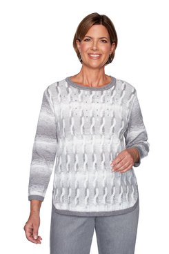 Image: Plus Ombre Cable Sweater