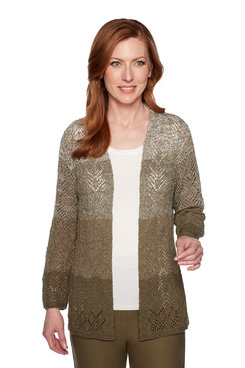 Image: Plus Ombre Pointelle Cardigan