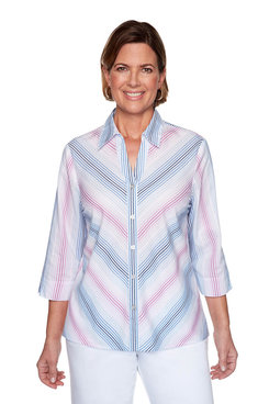 Image: Plus Ombre Striped Shirt