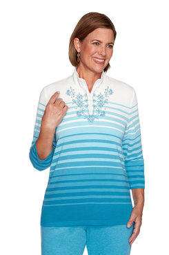 Image: Plus Ombre Striped Top