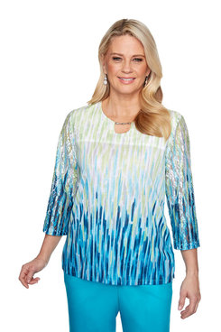 Image: Plus Ombre Textured Top