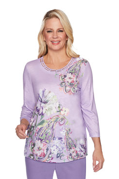 Image: Plus Paisley Floral Top