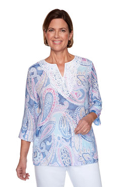 Image: Plus Paisley Lace Tunic
