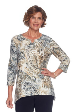 Image: Plus Paisley Spangle Top