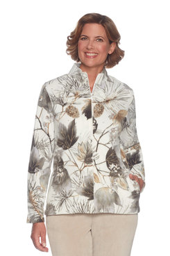 Plus Pinecone Leaf Fleece
