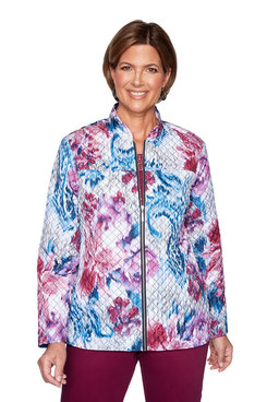 Image: Plus Print Quilted Jacket