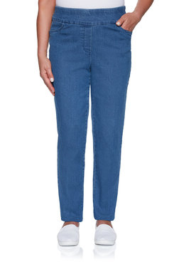 Image: Plus Proportioned Medium Superstretch Denim Jean