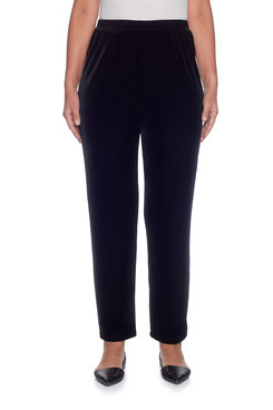 Plus Proportioned Short Knit Velvet Pant